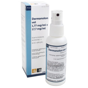 Dermanolon - triamcinolone. acetonid - acid. salicylic. 75 ml
